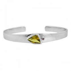 Sterling silver smoky quartz bangle