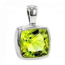 Sterling silver lemon quartz pendant