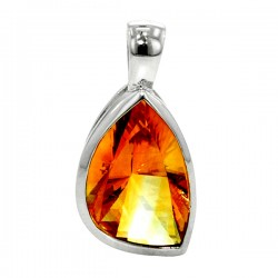 Sterling silver citrine pendant