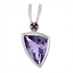 Sterling silver and amethyst pendant