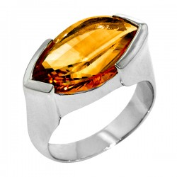 Sterling silver citrine ring marquise shape