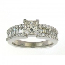 14kw 1.8cttw ctr pc 1.01ct diamond ring, size 6.5 I/SI1