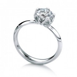 MaeVona 18Kw Bluebell Semi-Mount Solitaire Engagement Ring