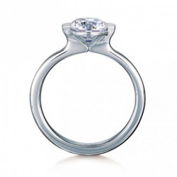 MaeVona 18Kw Cava Ring Semi-Mount Solitaire Engagement Ring
