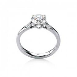 MaeVona 18Kw Fair Isle Semi-Mount Solitaire Engagement Ring