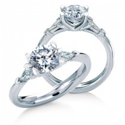 MaeVona 18Kw Gairsay Ring Semi-Mount Solitaire Engagement Ring