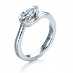 MaeVona 18Kw Isay Ring Semi-Mount Solitaire Engagement Ring