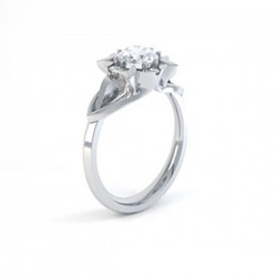 MaeVona 18Kw Primrose Semi-Mount Solitaire Engagement Ring