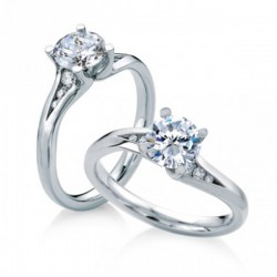 MaeVona 18Kw Seil Ring Semi-Mount Solitaire Engagement Ring