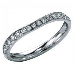 MaeVona 18Kw Diamond Tahay Wedding Ring