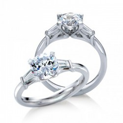 MaeVona 18Kw Torsa Ring Semi-Mount Solitaire Engagement Ring