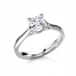 MaeVona 18Kw Westray Ring Semi-Mount Solitaire Engagement Ring