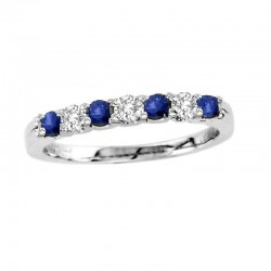 14kw sapphire & diamond ring s=0.36 wd=0.20, size 7