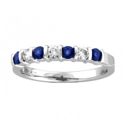 14kw 0.30ct saphire & 0.20ct diamond ring, 14kw , size 7