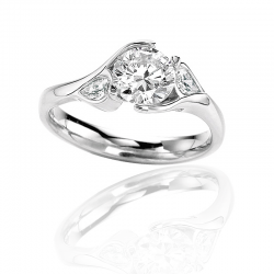 18K White Gold MaeVona Poppy Engagement Ring
