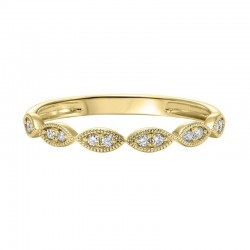 Diamond 2-Stone Marquise Stackable Band in 14k Yellow Gold