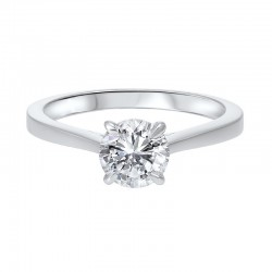 Diamond Round Classic Solitaire Engagement Ring in 14k White Gold (1/3ctw)