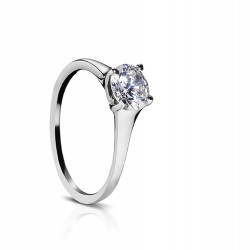 Sholdt 14K White Gold Fremont Solitaire Engagement Ring Mounting