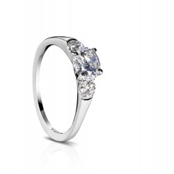 Sholdt 14K White Gold Fremont Three Stone Engagement Ring Mounting