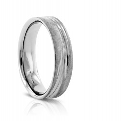 Sholdt German Finish Wedding Band in 14k White Gold