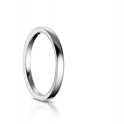 Sholdt Plain Comfort Fit Wedding Band in 14k White Gold