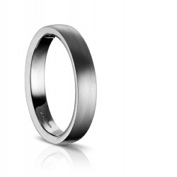 Sholdt Satin Finish Wedding Band in 14k White Gold