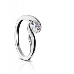 Sholdt 14K White Gold Twisp Half Bezel Bypass Engagement Ring Mounting
