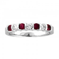 14kw ruby & diamond rng r=0.33 wd=0.18, size 6