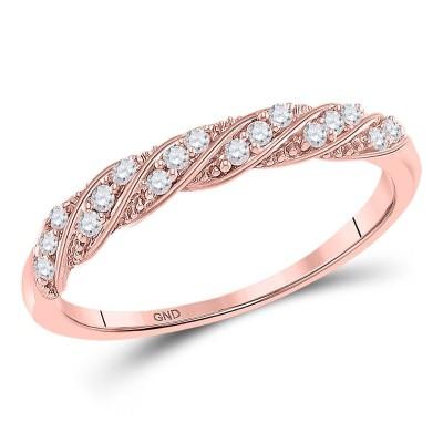 10Kr 1/8Cttw Diamond Stackable Band
