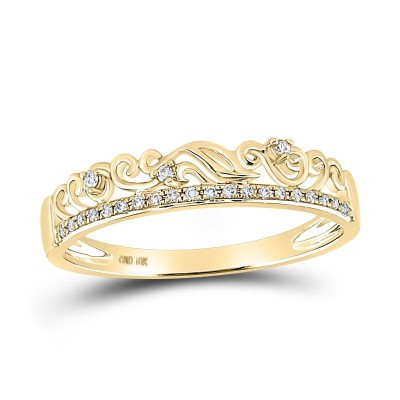 10Ky 1/12Cttw Diamond Stackable Band