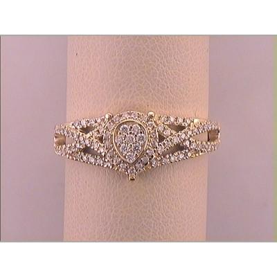 10Ky .50Cttw Diamond Ring