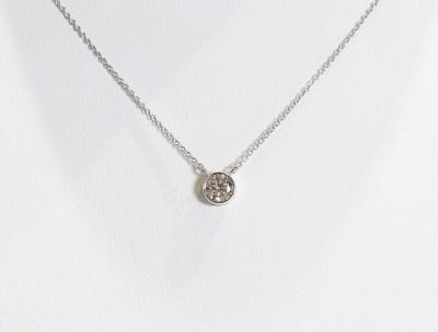 14kw .40ct Bezel Set Diamond Pendant