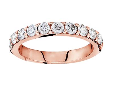 14Kr .25Cttw 11 Stone Shared Prong Diamond BandI/J I1