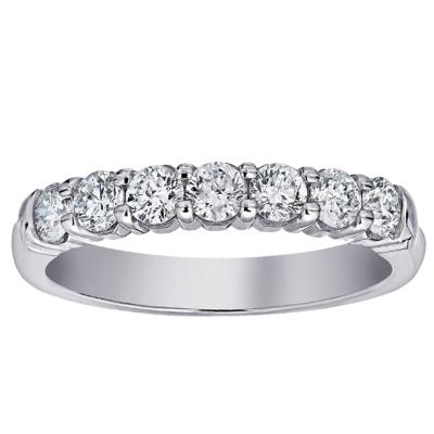 14Kw 7 Stone 1Cttw U Shape Shared Prong Diamond Band