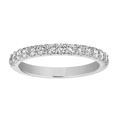 14Kw .20Cttw 15 Stone Shared Prong Diamond Band