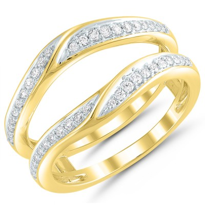 14 karat yellow gold .25Tw Diamond Wrap