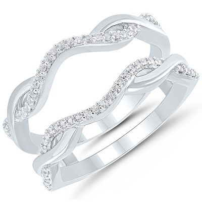 "14 karat white gold .15Tw Diamond ""Infinity"" Wrap"
