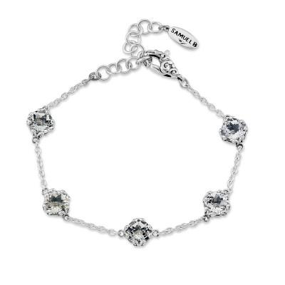 Glow White Topaz Station Bracelet