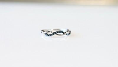 Blue Diamond Fashion Ring
