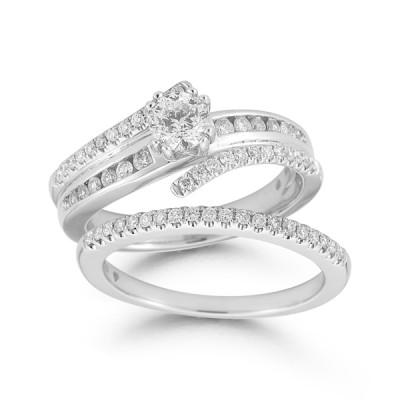 1cttw Diamond Wedding Set