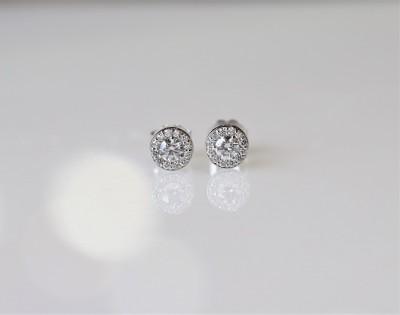.50CTW ASTRL Lab Grown Diamond Halo Stud Earrings