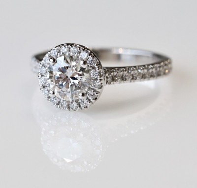 1.30CTW ASTRL Lab Grown Round Halo Diamond Engagement Ring
