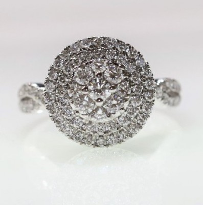 1.25CTW Lab Grown Double Halo Cluster Ring
