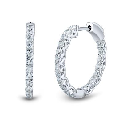 1cttw Lab Grown Diamond Hoops