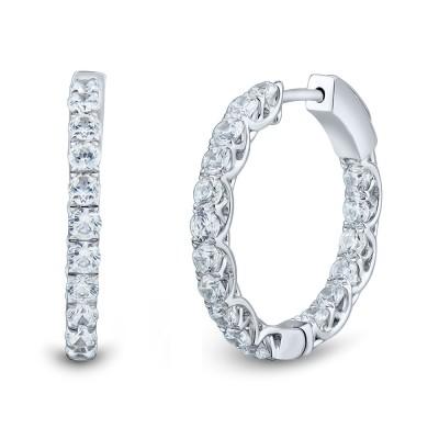 2cttw Lab Grown Diamond Hoop Earrings
