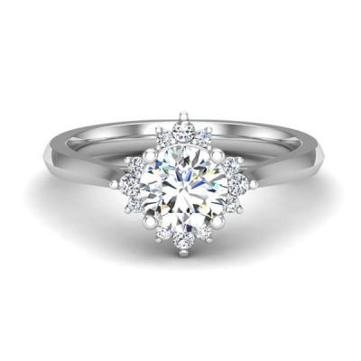 14kw .13cttw Diamond Semi-mount