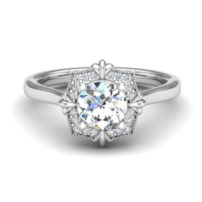 14kw .10cttw Diamond Semi-mount