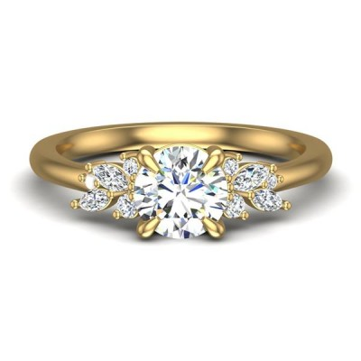 14ky .20cttw Diamond Semi-mount