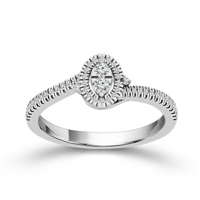 Oval Promise Ring