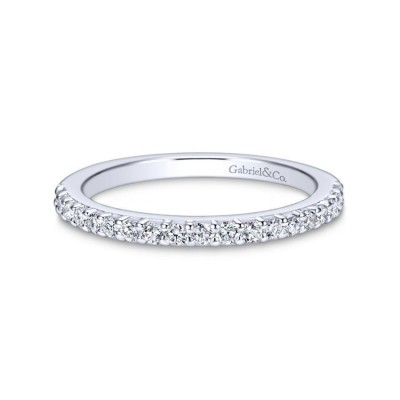 14K White Gold Matching Wedding Band -0.27 ct